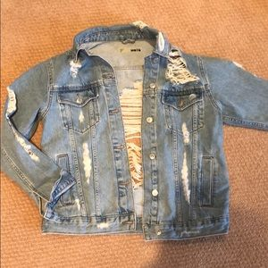 Top shop Ripped Jean Jacket